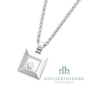 ハッピーダイヤモンド スクエア 1P ダイヤ ペンダントネックレス