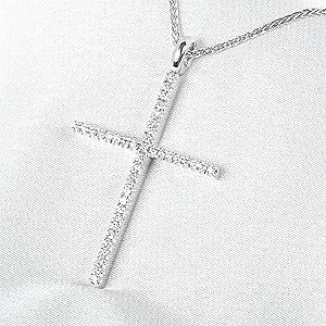 ミステリークロス ダイヤ  ペンダントネックレス(M)