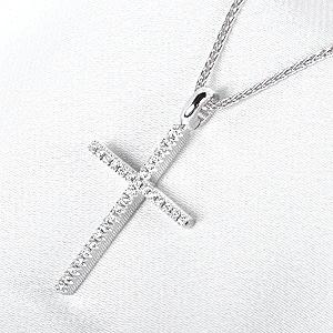 ミステリークロス ダイヤ  ペンダントネックレス(S)