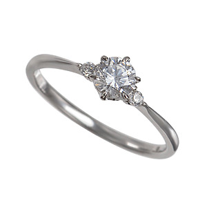 セミオーダー婚約指輪 HHR006 セッティングダイヤ 0.307-E-VS1-VG