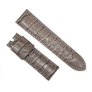 宝石広場オリジナル パネライ用ストラップ クロコダイル 尾錠用 グレー 24‐22mm