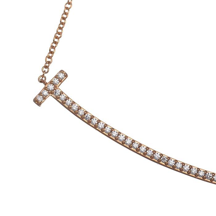 Tスマイル (ラージ) ダイヤ ネックレス